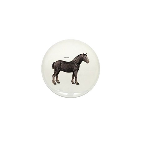 Percheron Horse Mini Button (100 pack)