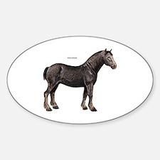 Percheron Horse Sticker (Oval)