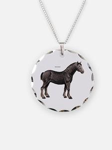 Percheron Horse Necklace