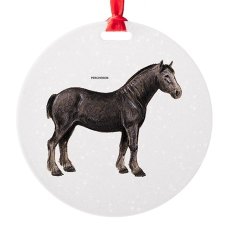 Percheron Horse Round Ornament