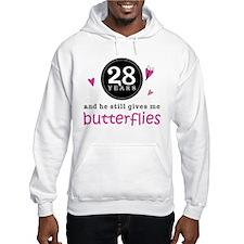 28th Anniversary Butterflies Jumper Hoody