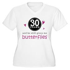 30th Anniversary Butterflies T-Shirt