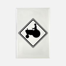 Tractor Crossing Ahead Rectangle Magnet (10 pack)