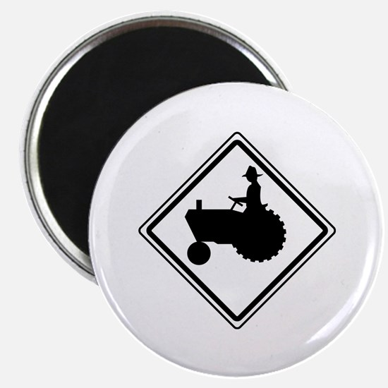 "Tractor Crossing Ahead 2.25"" Magnet (10 pack)"