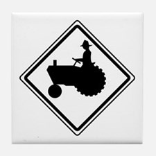 Tractor Crossing Ahead Tile Coaster