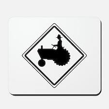 Tractor Crossing Ahead Mousepad