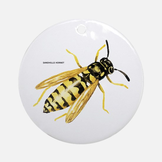 Sandhills Hornet Insect Ornament (Round)