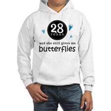 28 Year Anniversary Butterfly Hoodie