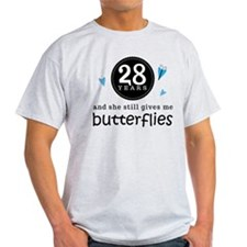 28 Year Anniversary Butterfly T-Shirt