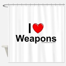 Weapons Shower Curtain