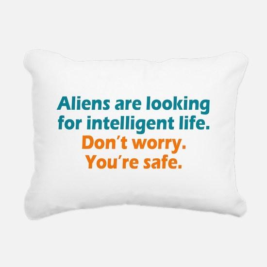 Aliens Looking Rectangular Canvas Pillow