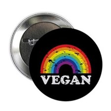 "Vegan Rainbow 2.25"" Button"
