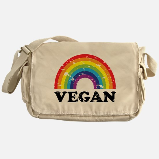 Vegan Rainbow Messenger Bag