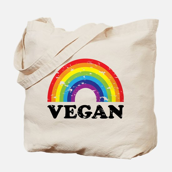 Vegan Rainbow Tote Bag