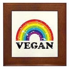 Vegan Rainbow Framed Tile