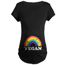 Vegan Rainbow Maternity T-Shirt