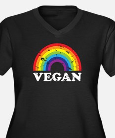 Vegan Rainbow Plus Size T-Shirt