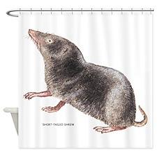 Short-Tailed Shrew Shower Curtain