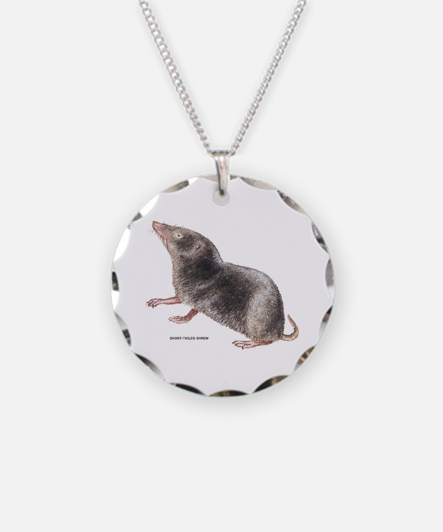 Short-Tailed Shrew Necklace Circle Charm