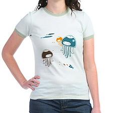 Cute Jellyfish - Womens Ringer Shirt