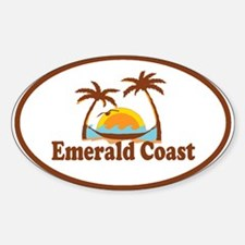 Emerald Coast - Palm Tree Design. Decal