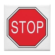 Stop Sign Tile Coaster
