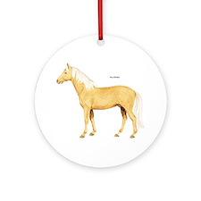 Palomino Horse Ornament (Round)