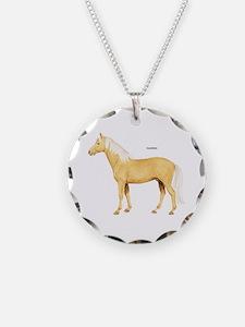 Palomino Horse Necklace