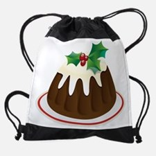 Christmas Pudding Drawstring Bag