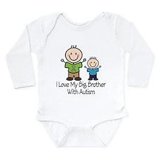 Autism Big Brother Long Sleeve Infant Bodysuit