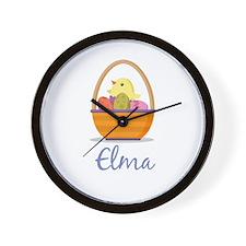 Easter Basket Elma Wall Clock