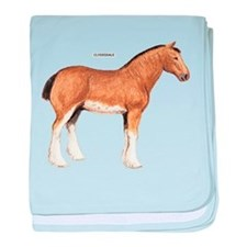 Clydesdale Horse baby blanket