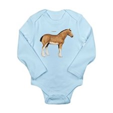 Clydesdale Horse Long Sleeve Infant Bodysuit