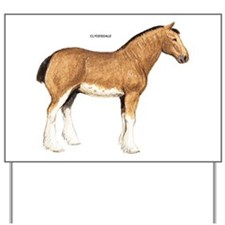Clydesdale Horse Yard Sign