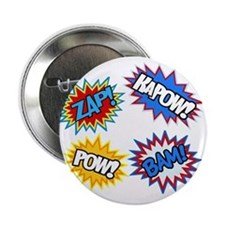 "Hero Pow Bam Zap Bursts 2.25"" Button"