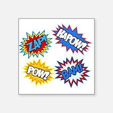 Hero Pow Bam Zap Bursts Sticker
