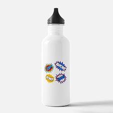 Hero Pow Bam Zap Bursts Water Bottle