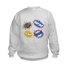 Hero Pow Bam Zap Bursts Sweatshirt
