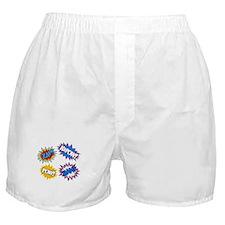Hero Pow Bam Zap Bursts Boxer Shorts