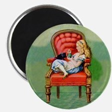 Alice & Dinah in the Big Red Chair Magnet