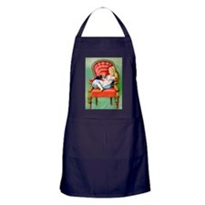 Alice & Dinah in the Big Red Chair Apron (dark)