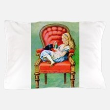 Alice & Dinah in the Big Red Chair Pillow Case