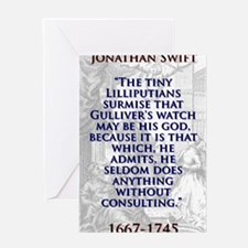 The Tiny Lilliputians Surmise - J Swift Greeting C