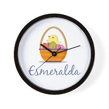 Easter Basket Esmeralda Wall Clock