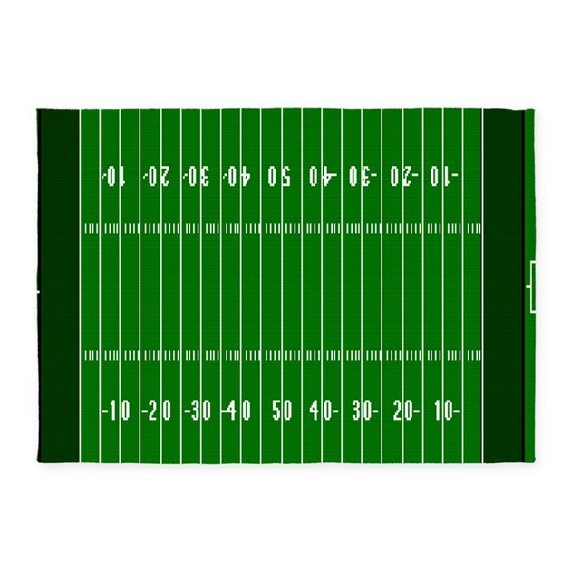 5'x7'Football Field Area Rug By Forgottenmemory