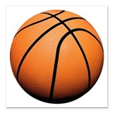 Basketball Square Car Magnets