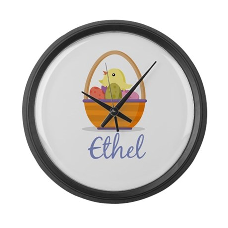 Easter Basket Ethel Large Wall Clock