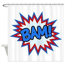 Hero Bam Bursts Shower Curtain