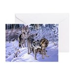 Wolves Playing Christmas Cards -Pk of 10