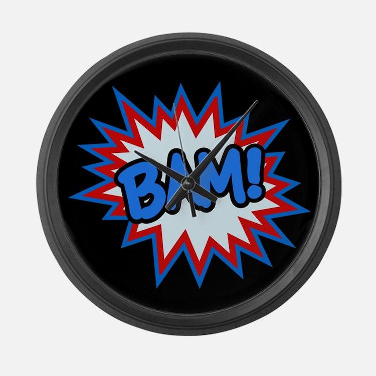 Hero Bam Bursts Large Wall Clock